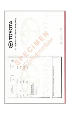 certificat de conformit toyota gratuit id e d 39 image de voiture. Black Bedroom Furniture Sets. Home Design Ideas